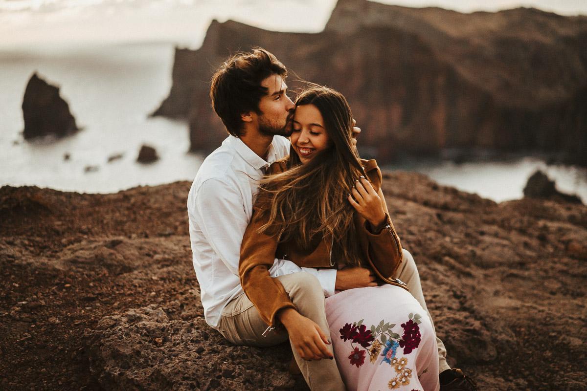 couple shooting madeira destination photographer sunrise - karina sowa fotografie